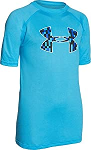 Under Armour Boys' Tech Big Logo T-Shirt, Meridian Blue (987), Youth Small