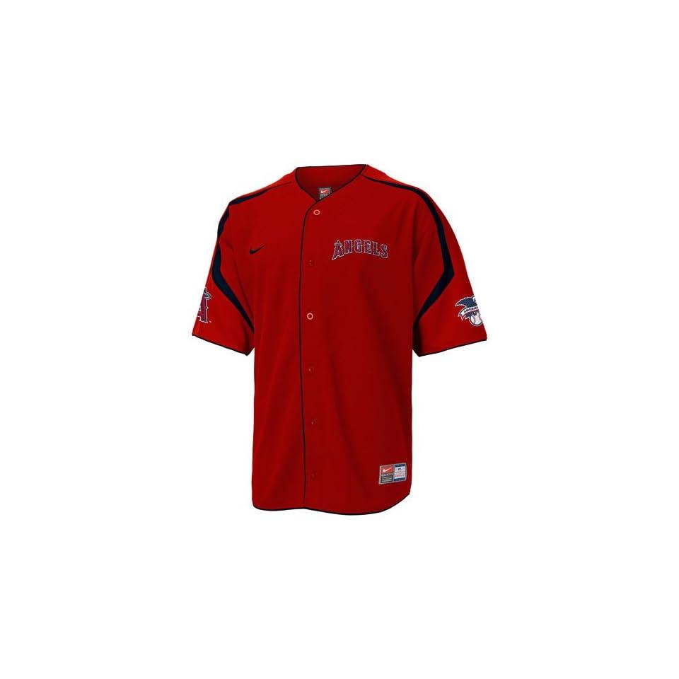 Nike Anaheim Angels Red Power Alley Jersey