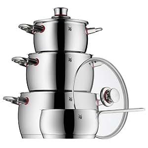 WMF Quality One - Batería de cocina, 4 piezas
