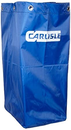 Carlisle JC194614 Blue 25 Gallon Rip Stop Nylon Replacement Bag for JC1945 Janitorial Cart