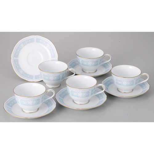 Noritake Fine Porcelain Lacewood Gold Tea Coffee Cup And Saucer 5 Sets By Noritake