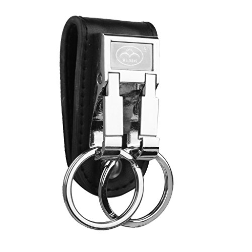 phenovo-1pc-artificial-leather-strap-alloy-double-ring-key-chain-car-keyring