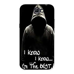 AJAYENTERPRISES Best I Know Back Case Cover for Galaxy Note 2