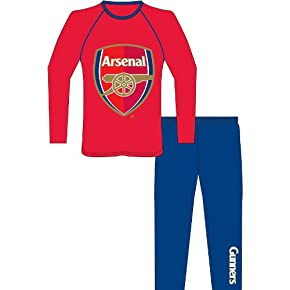 Childrens/Kids Boys Arsenal Football Long Sleeve Top & Bottoms/Trouser Pyjama Set
