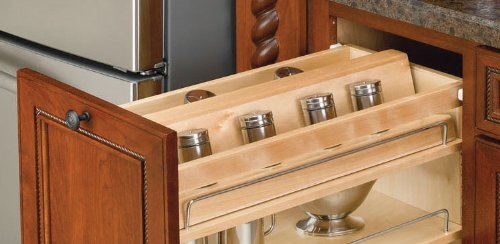 Rev-A-Shelf 448-SR8-1 Spice Rack Insert - Wood - Maple-Natural