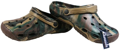 Mens Army Green SHORESIDE Holiday Beach Sandal Clogs Sandals Size