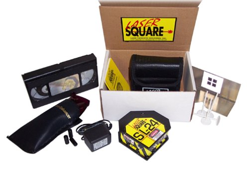 Laser Square SL-24 Multi-Function Laser Level Line Projector, Dots or Lines