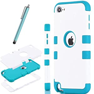 Pandamimi ULAK For Apple iPod Touch Generation 5 Hybrid 3 Layer Silicone Case with Hard Shell Inside Case +Screen Protector/Stylus by ULAK