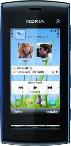 Nokia 5250 Smartphone (7,1 cm (2,8 Zoll) Display, Touchscreen, 2 Megapixel Kamera) blau