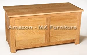 New Solid Oak Blanket Box / Storage Box       Customer review and more information
