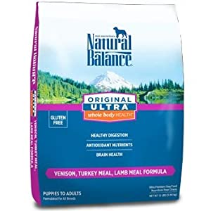 Natural Balance Original Ultra Whole Body Health Venison, Turkey Meal, Lamb Meal Formula for Dogs, 26-Pound Bag