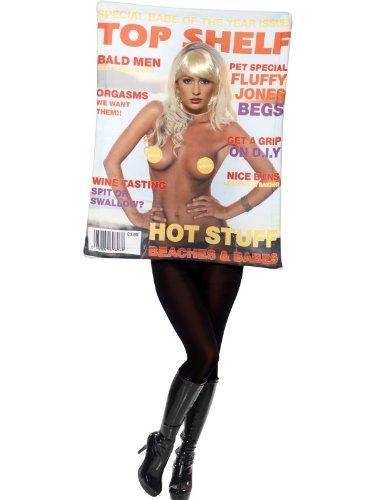 Adult Comedy & Clown Fancy Dress Top Shelf Mens Magazine Costume One Size