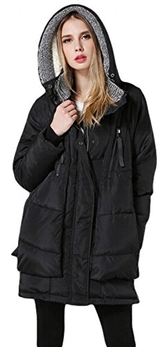 Orolay Women's Thickened Down Jacket (Small, Black)