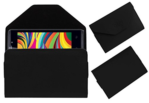 Acm Premium Pouch Case For Iball Andi 4 Arc Flip Flap Cover Holder Black  available at amazon for Rs.179