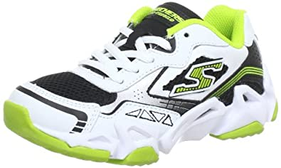Skechers Fierce FlexAir Tricks 95752L Jungen Sneaker, Weiß (WBLM), EU 27