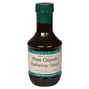 Fischer Wieser Plum Chipotle Barbecue Sauce 21-ounce Bottles Pack Of 6 by Fischer & Wieser