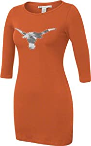 Texas Longhorns Chicka-d-Ladies Texas Orange Fitted Dress by Chicka-D