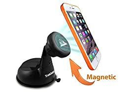 Universal Car Phone Mount - PhoneRider (TM) - The Ultimate Cell Phone Mount Holder For Travel & Home Use | Best Grip to Dashboard, Windshield, Desk etc. | Strongest Magnetic Head Securely Mounts Mobile Cell Phones, Phablets, GPS, Small Tablets Including Samsung Galaxy S5/Note 4, iPhone 5s/5c/6/6 Plus(6+), LG G3 etc. | Fully Adjustable
