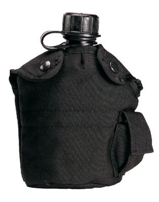 Black GI Type Enhanced Nylon 1 Qt Canteen Cover
