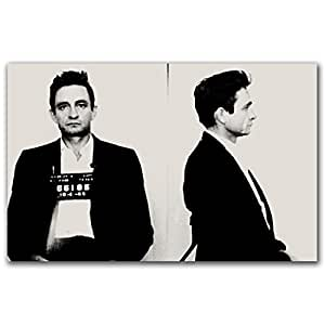 Amazon.com: Th-Ink Art Johnny Cash Mugshot Gallery Wrapped Canvas
