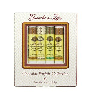 Chocolate Parfait Collection (4 x 0.15 oz) by Ganache for Lips