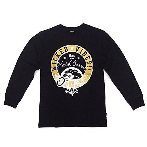 (ネスタブランド) NESTA BRAND  メンズ 長袖Tシャツ (WICKED VIBES) LS1409F (M, BLK)