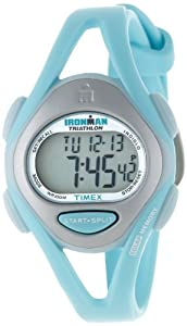 Timex Women's Ironman T5K701 Blue Resin Quartz Watch with Digital Dial