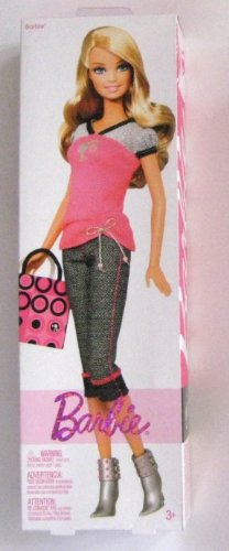 Boxed Barbie Pink Shirt - Capris - Pocketbook - Boots - 1