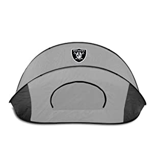 Oakland Raiders Picnic Time NFL Manta Sun Shelter (Black/Gray) from Picnic Time