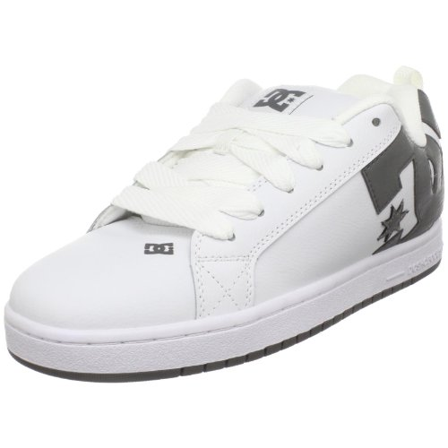 DC Men's Court Graffik Skate Shoe,White/White/Battleship,8 M US
