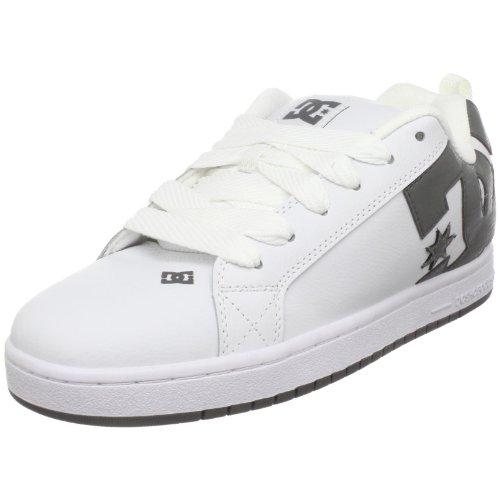 DC Men's Court Graffik Skate Shoe,White/White/Battleship,8 M US