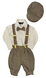 G284 Boys Vintage Knickers Outfit Suspenders (5, Natural)