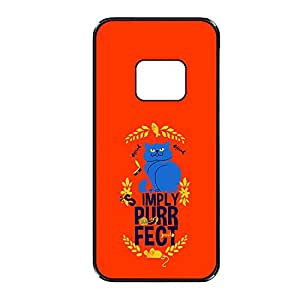 Vibhar printed case back cover for HTC One M8 CatPurr
