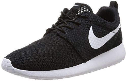 Nike Rosherun Br, Scarpe sportive, Uomo, Multicolore (Black/White), 44