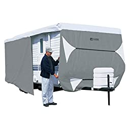 Classic Accessories OverDrive PolyPRO 3 Deluxe Travel Trailer Cover or Toy Hauler Cover, Fits 22\' - 24\' RVs - Max Weather Protection with 3-Ply Poly Fabric Roof Travel Trailer Cover (73363)