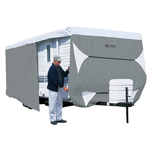 Classic Accessories OverDrive PolyPRO 3 Deluxe Travel Trailer Cover or Toy Hauler Cover, Fits 18' - 20' RVs - Max Weather Protection with 3-Ply Poly Fabric Roof Travel Trailer Cover (73163) (Rv Vent Cover Inside compare prices)