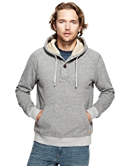 North Coast Cotton Rich Marl Hooded Top