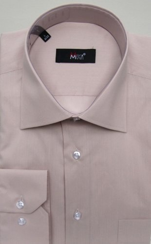 MUGA mens shirts for Casual and Formal, Beige, Size M