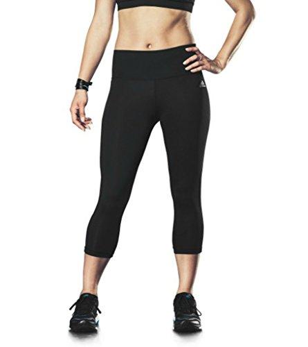 adidas Performance Women's Performer Mid-Rise 3/4 Tights, Black/Matte Silver, Medium