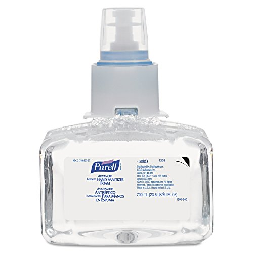 PURELL 1305-03 Advanced Instant Hand Sanitizer Foam, 700 mL LTX-7 Refill (Pack of 3)