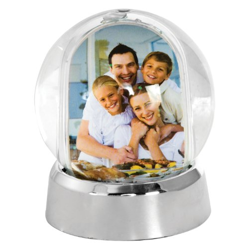 Mini Photo Snow Globe (Silver Base) (Snowglobe Photo Insert compare prices)