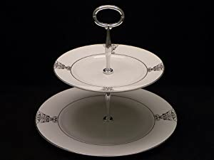 Vera Wang China Imperial Scroll Hostess Tray 2 Tier