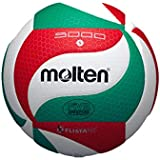 Molten V5M5000 Ballon de volley-ball blanc/vert/rouge