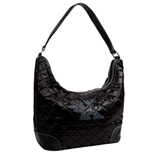 NCAA Sport Noir Quilted Hobo Purse by Littlearth
