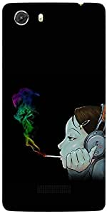 Snoogg Girl Smoking Designer Protective Back Case Cover For MICROMAX UNITE 3