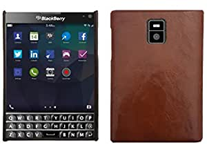 BOUNCEBACK LEATHER COATED SHOCKPROOF CASE COVER FOR BLACKBERRY PASSPORT -BROWN