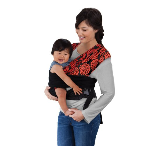 Best Review Of Infantino Sync Comfort Wrap Carrier Black/Red