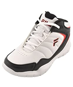 Fila Breakaway 4 Basketball Sneaker (Little Kid/Big Kid),White/Black/Red,1 M US Little Kid