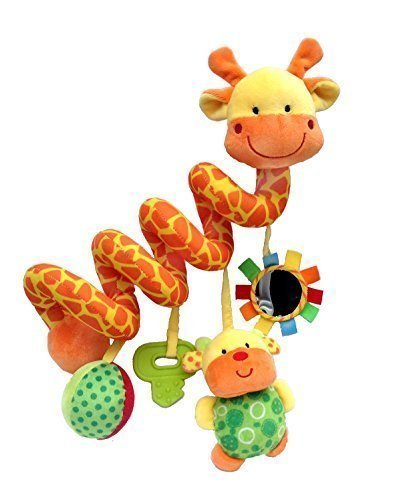Giraffe Baby Crib Toy From Crib Critters - Wrap Around Crib Rail or Stroller Toy - Toys for Babies 3 to 6 Months