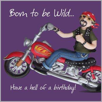 Fax Potato Greeting Card - Happy Birthday, Born To Be Wild - For birthday, Congratulations,